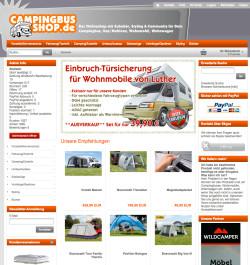 ReDesign für campingbus-shop.de