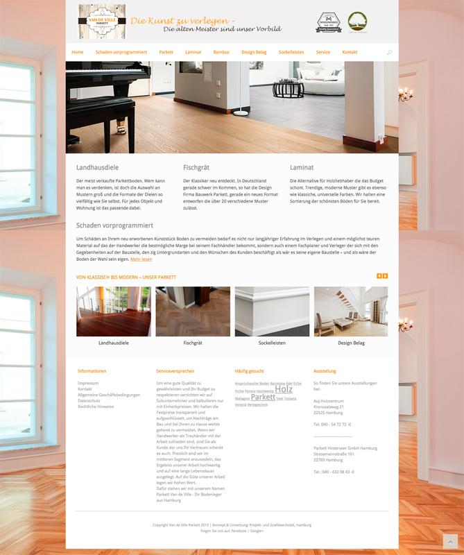 Parkett muster modern  Von Klassisch bis Modern – Van de Ville Parkett | Projekt- und ...