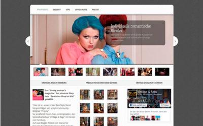 Webseite für Vintage & Rags