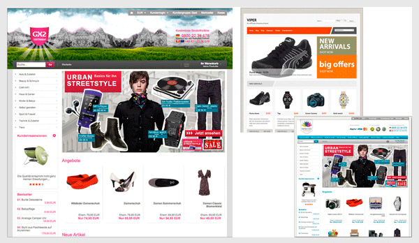 ihr eigener online shop inkl design einrichtung ab 359. Black Bedroom Furniture Sets. Home Design Ideas